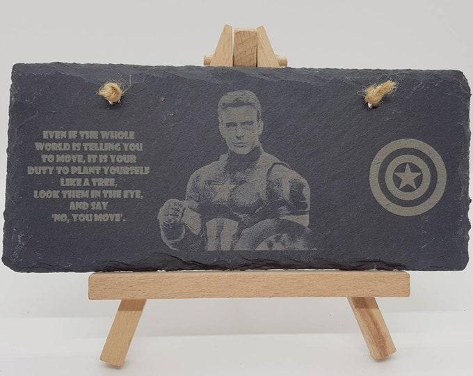Captain America Cival War Quote Slate Sign