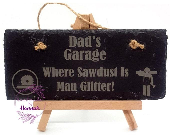 Dad's Garage Slate Sign