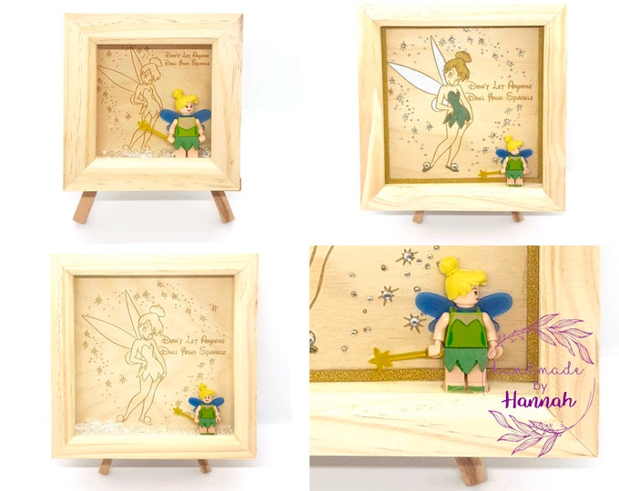 Tinkerbell Character Frame - Don't Let Anyone Dull Your Sparkle - Box Frame