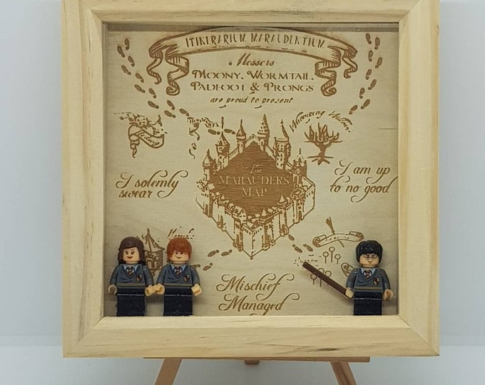Harry Potter Marauder's Map Character Box Frame