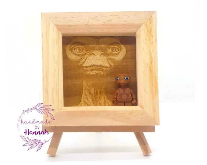 E.T. Engraved Mini Figure Box Frame