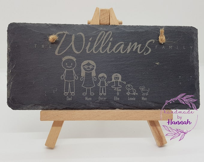 Personalised Family Slate Sign