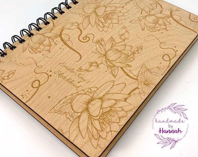 A5 Water lilies Sketchbook