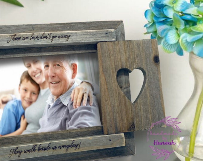Those We Love Don't Go Away They Walk Beside Us Everyday - Memory Frame