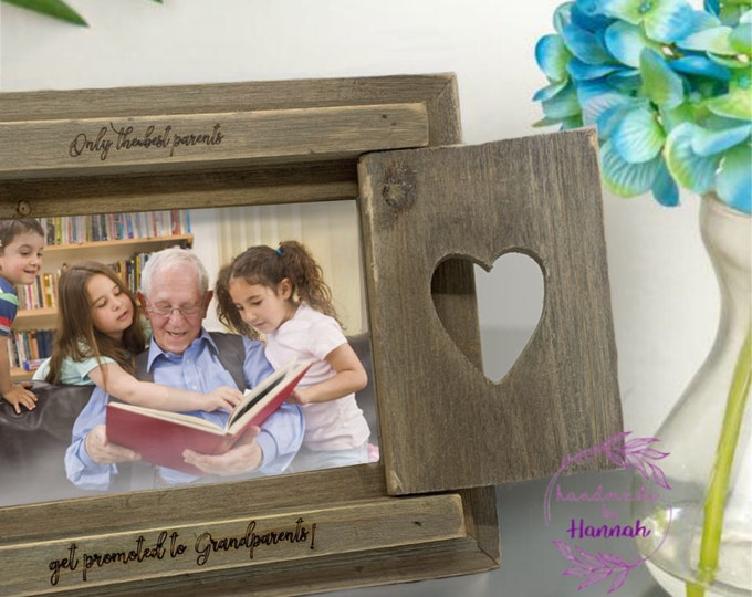 Only The Best Parents Get Promoted To Grandparents Photo Frame