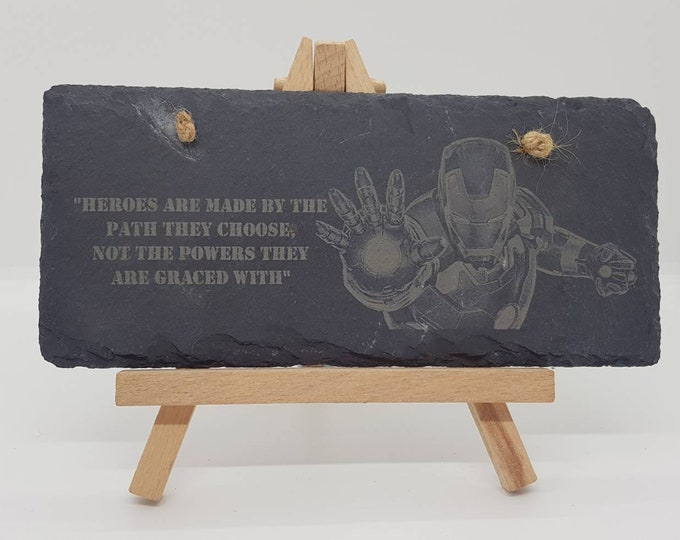 Iron Man Quote Slate Sign