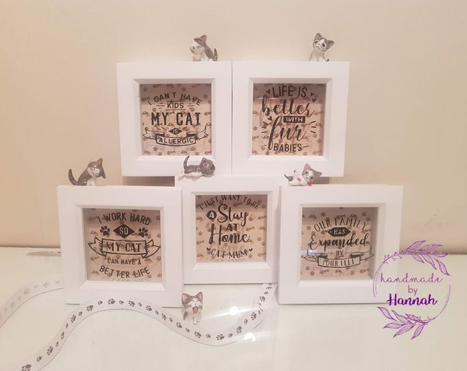 Cat Quote Box Frames