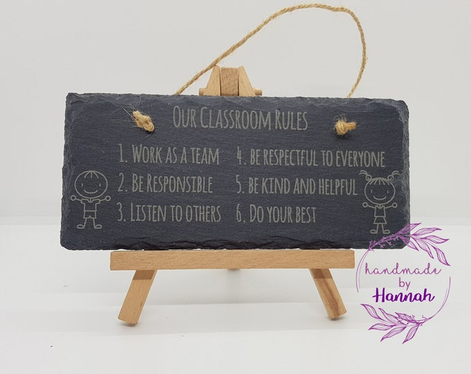 Classroom Rules Slate Sign