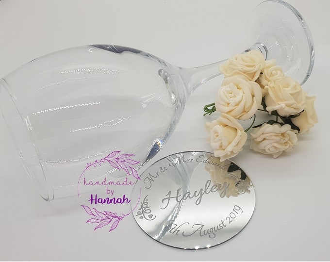 Modern Mirror Wedding Place Setting