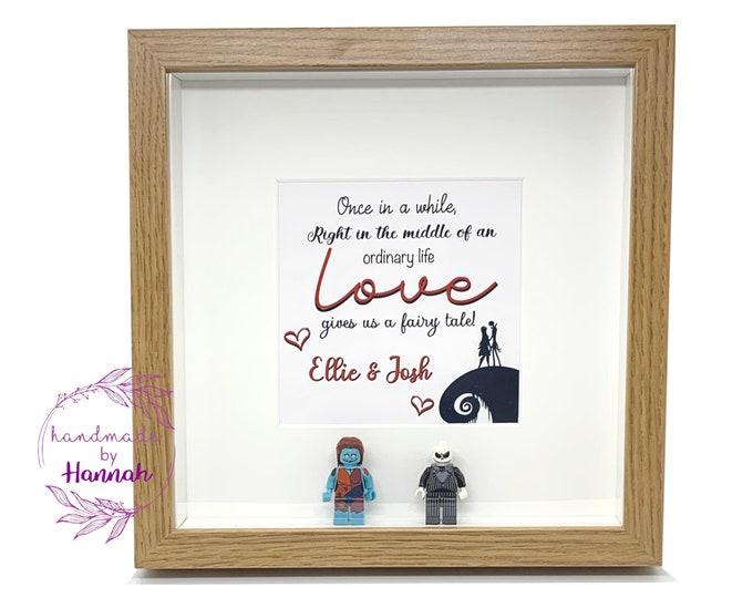 Nightmare before christmas inspired - love story box frame