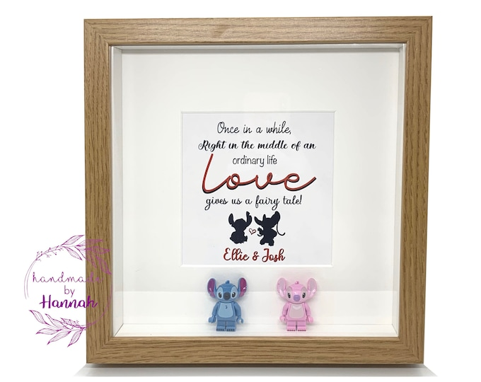 Lilo and Stitch inspired - Stitch and Angel - love story box frame