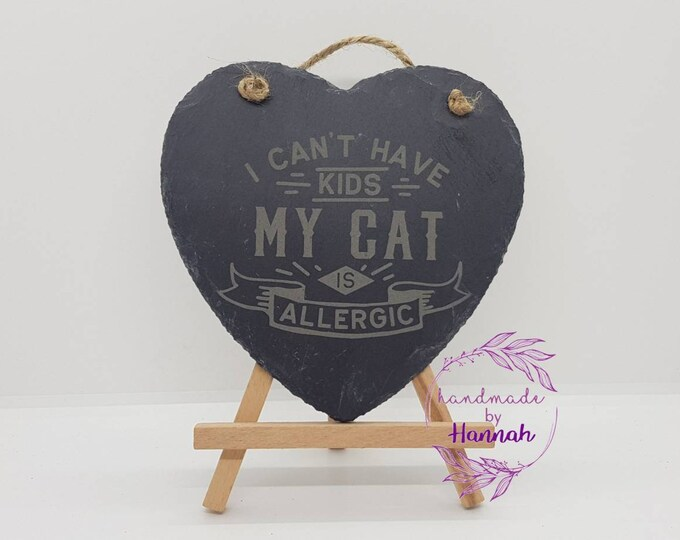 Quotes About Cats Slate Heart Hanging Sign