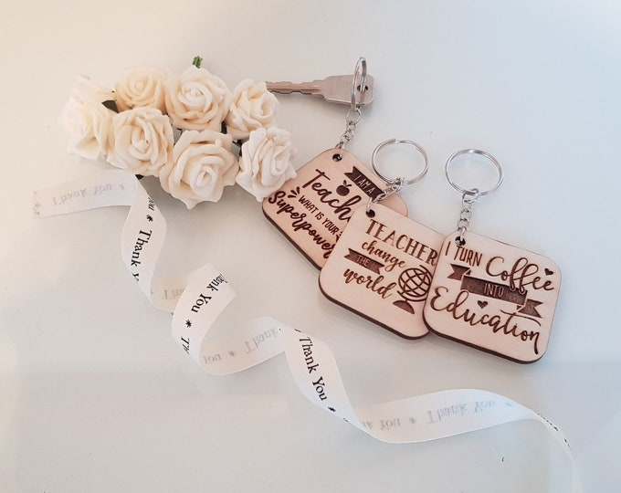 Teacher Gifts Keyrings