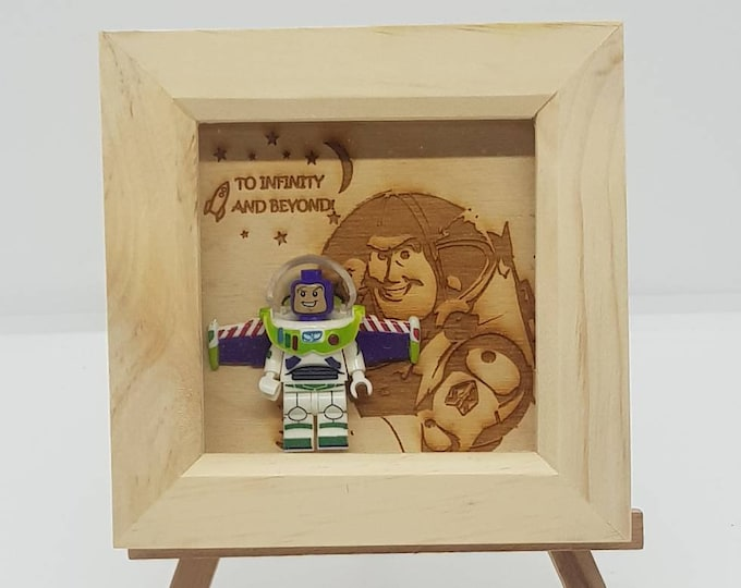 Buzz Lightyear Mini Figure Character Box Frame