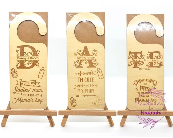 Children Door Hangers - Baby Door Hangers