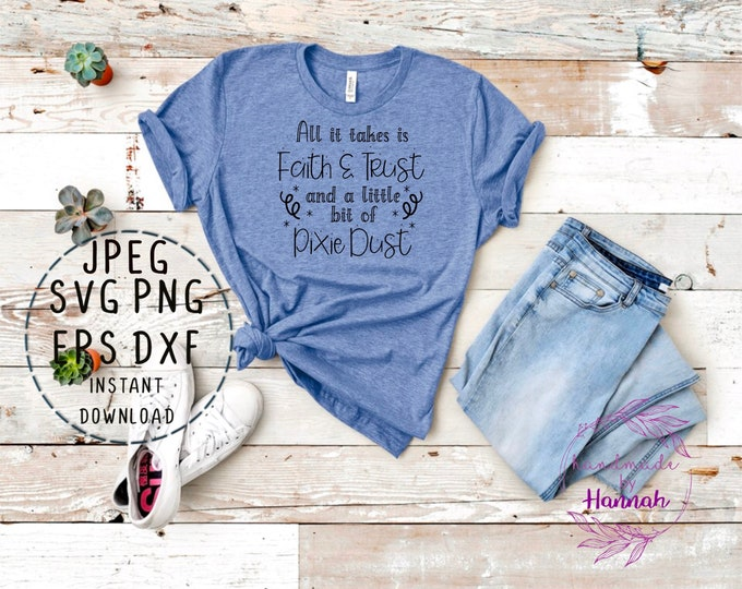 Pixie Dust Svg - Tinkerbell Svg - Disney Quote Svg - Tinkerbell Decal - Tinkerbell Svg Files For Cricut - Tinkerbell Clipart - Tink Quote