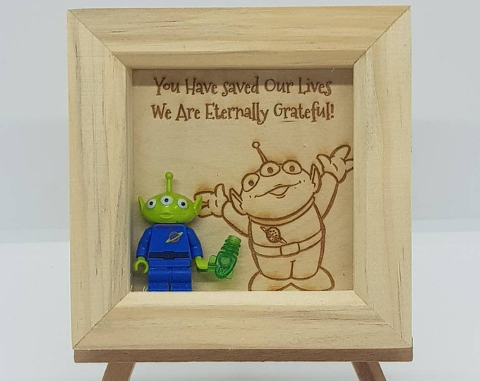 "Toy Story Alien ""you have saved our lives"" Mini Character Frame"