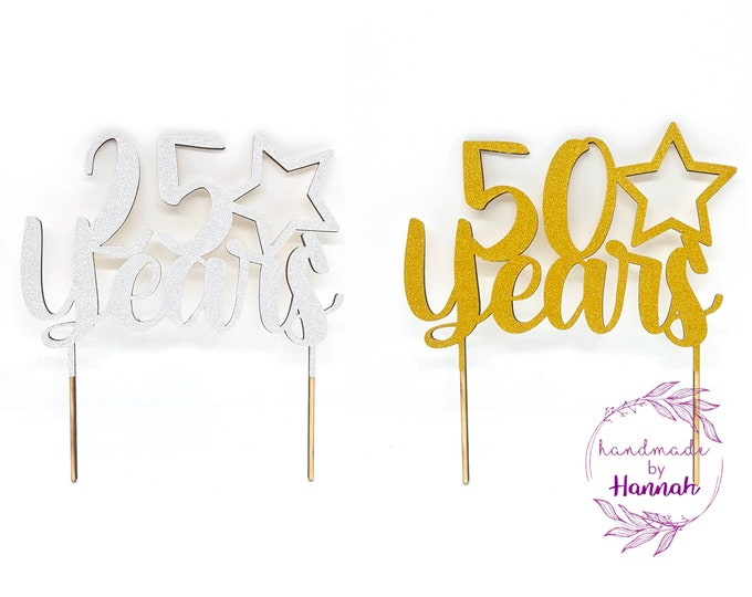 Wedding Anniversary Cake Topper