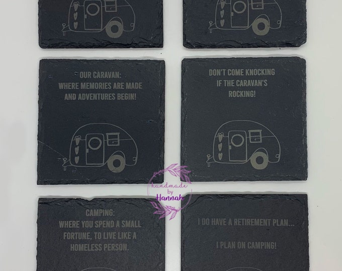Caravan Themed Coasters