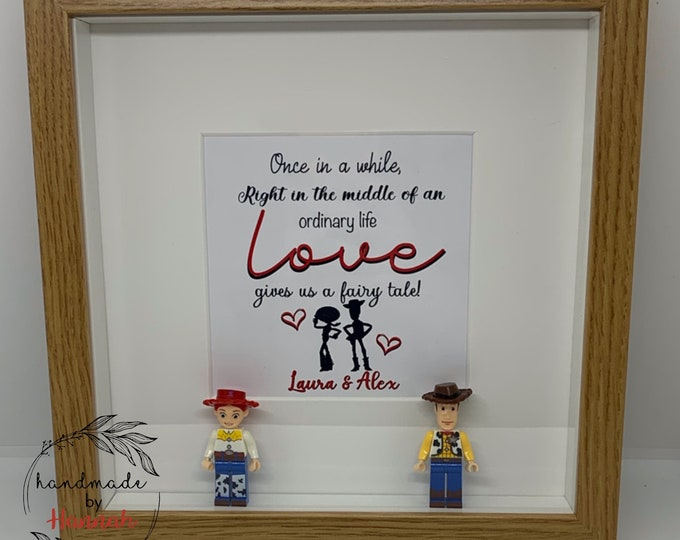 Woody and Jessie Toy Story inspired - love story box frame