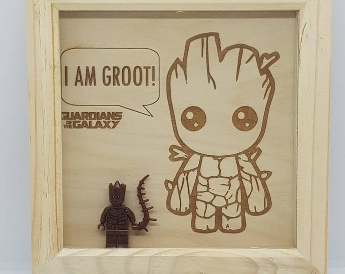 Guardians Of The Galaxy Groot Character Box Frame
