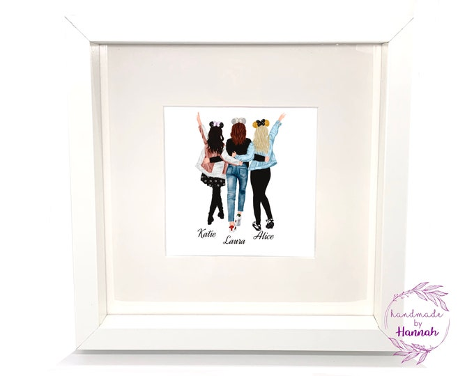 Personalised Best Friends Picture - Disney Friends -  Best Friends - Gifts for Best Friends - Personalised Gifts