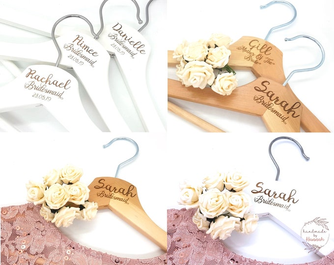 Personalised Wedding Dress Bridal Hangers