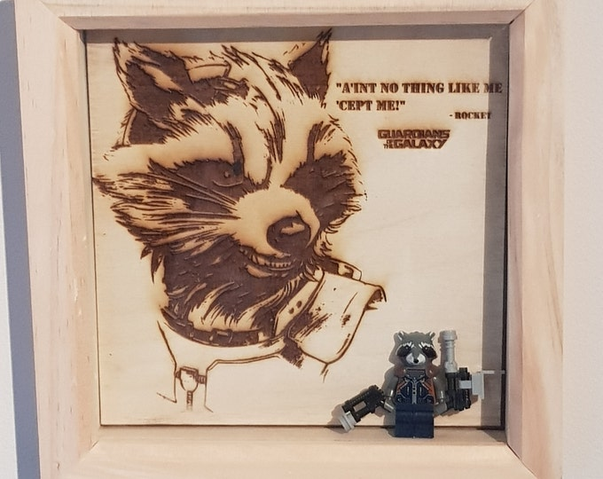 Guardians Of The Galaxy Rocket Character Box Frame