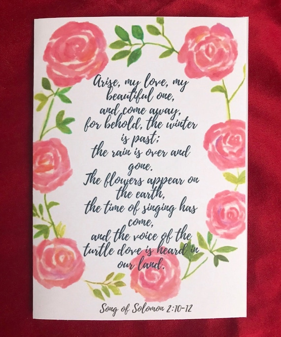 Christian Wedding Card Religious Engagement Card Song Of Etsy