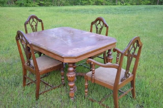 Pleasing Stunning 1920S Jacobean Dining Set With 6 Chairs Cjindustries Chair Design For Home Cjindustriesco