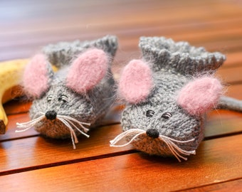 Baby Slippers Mouse