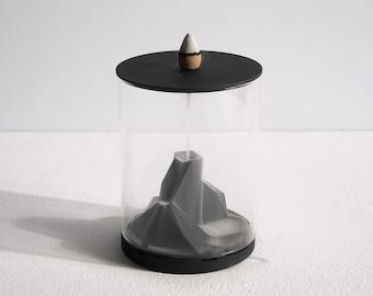 Concrete backflow incense holder - Caldera | Incense Waterfall | Cement Incense burner | Modern minimalist home decor | Present Gift Him