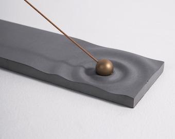 Concrete incense holder - Ripple   Yoga Meditation Zen Mindfulness   Cement Incense burner   Modern minimalist home decor   Present Gift Her