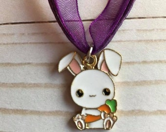 Adorable Bunny Charm Necklace - Cute Rabbit