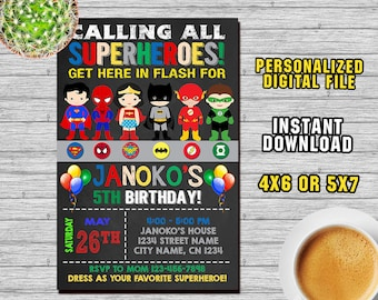 superhero superhero invitation superhero party superhero birthday superhero printable its time