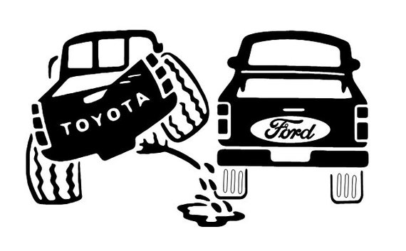 toyota piss on ford piss vehicle decal vinyl sticker car