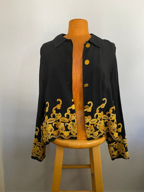 Embroidered Ranch Wear Blouse