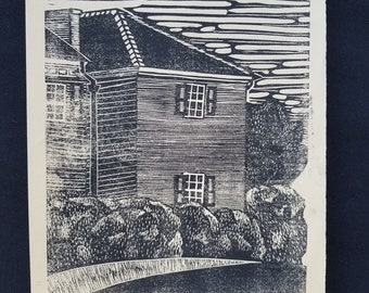 Originele Linoleum Print