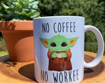 Baby Yoda Coffee Mug Etsy