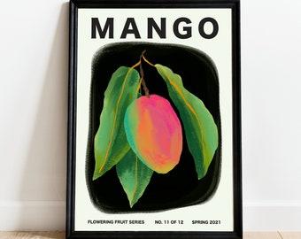 Tropical Botany Artwork Print Kitchen Bathroom Home Decor Old Botanical Illustration Mango Fruit Poster FDA61 Flore D/'Amerique