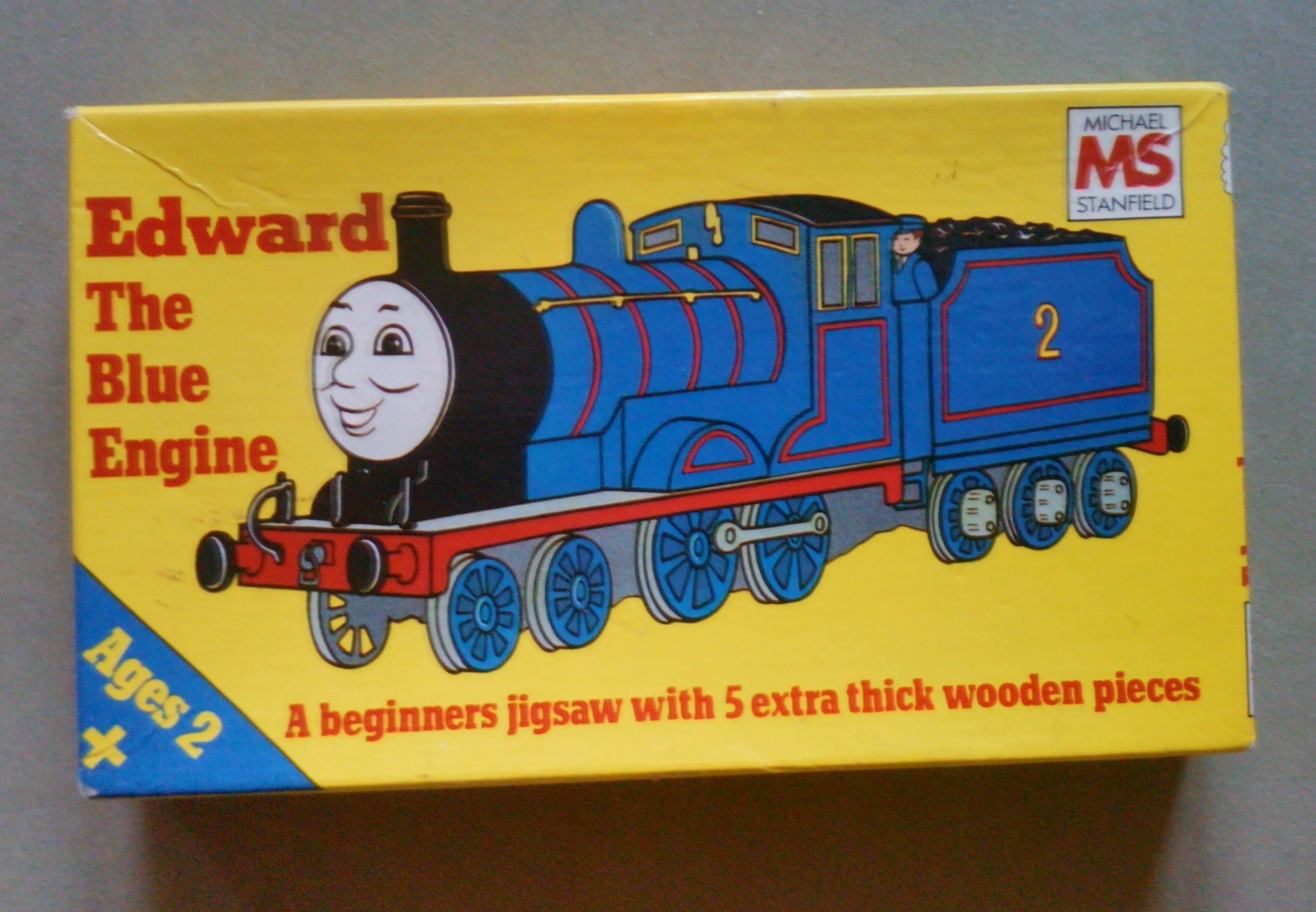 Childrens Wooden Jigsaw Puzzle Edward The Blue Engine Toddler Puzzle The Railway Series Childrens Puzzle Vintage Jigsaw Puzzle