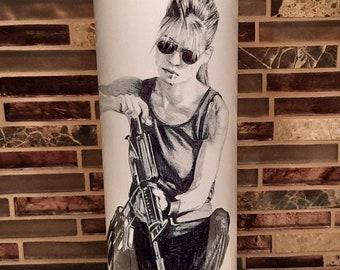 Linda Hamilton Terminator Pinup Girl 4x6 Fridge Refrigerator Magnet Photo DECOR