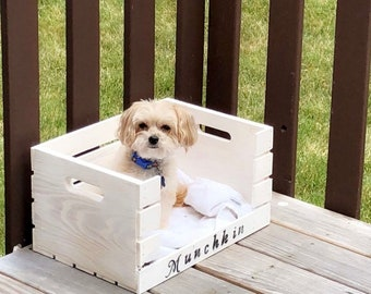 Dog bed, wood, pets, crate
