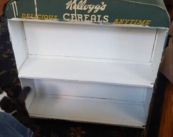 Vintage Kellogg's Cereal Store Display Shelf