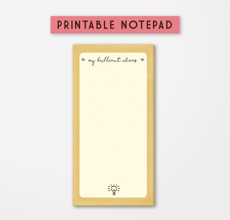 image regarding Printable Notepad titled Printable Notepad, Towards Do Checklist, College or university Notepad, My Excellent Options Stationery, Customizable Sheets Household Workplace Resources, Notes Template, Adorable