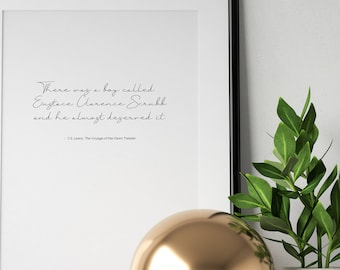 cs lewis quote the voyage of the dawn treader classic literature typography calligraphy modern minimalist wall art decor download