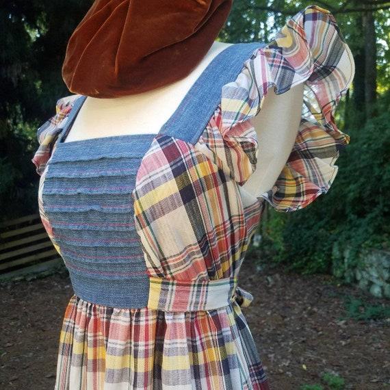 Young Edwardian Arpeja 70s Denim Pinafore Dress Gu