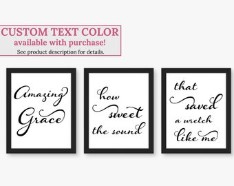 photograph about Amazing Grace Lyrics Printable referred to as Remarkable grace lyrics Etsy
