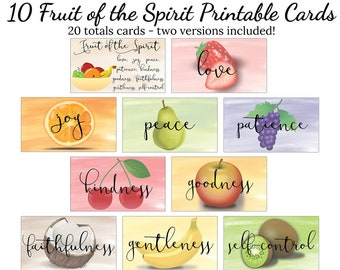 graphic about Printable Fruit of the Spirit called Fruit of the spirit printable Etsy