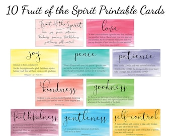 image relating to Fruit of the Spirit Printable referred to as Fruit of the spirit Etsy